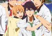Haru et ses amis du lycée Iwatobi
