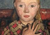portrait jeune fille par Paula Becker