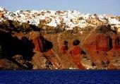 Falaise à Santorin Cyclades