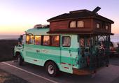 camping- cars vert