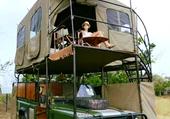 camping- cars vert land rover