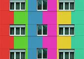 façade multicolore