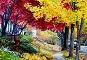 Puzzle Trottoir d'automne