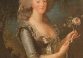 Marie Antoinette a la rose