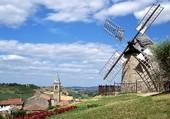 moulin et village