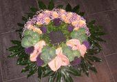 Superbe couronne de fleurs