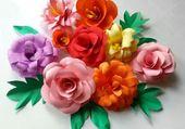 Papier en fleurs