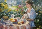 Petit-déjeuner au soleil