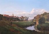 Puzzle Le village et la rivière