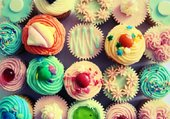 Puzzle Cup cakes