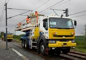 camion container-pour rail et route