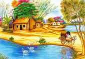 Puzzle Village malgache