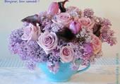 Belle tasse avec des fleurs