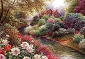 rivière en fleurs