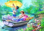 Pique-nique en bateau