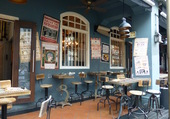 Puzzle Singapour café bleu
