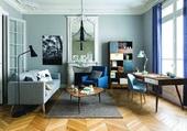 salon bleuté