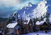 Puzzle Noël dans la montagne
