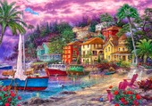 paysage colorée