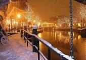 Promenade hivernal le long du canal