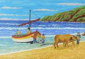 retour de pêche en Algarve
