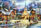 Puzzle village a noel