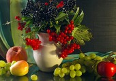 bouquet de baies et fruits