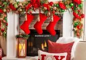 La cheminée est prête pour Noël