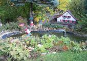 Un jardin bien décoré