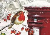 Carte postale de neige