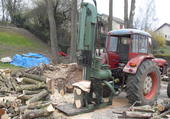 TracteurZetor et grosse fendeuse