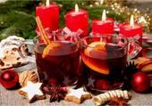 bougies et boisson épicée