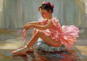 Ballerine en rose