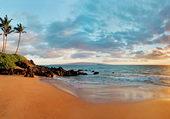 Hawaii, Secret Beach at sunset