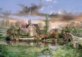 Puzzle romantique paysage