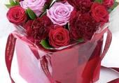 Boite de roses