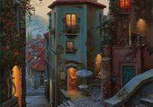 Dans les rues du village