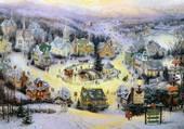 Puzzle Hiver au village
