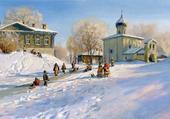 hiver russe par vladimir zhdanov