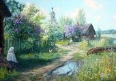 village sibérien par vladimir zhdanov
