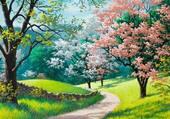 Peinture de printemps