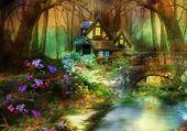 Puzzle paysage fantastique