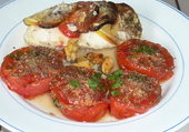 Filet de julienne aux moules et tomates