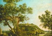 paysage anglais avec un palais
