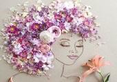 Puzzle femme fleur