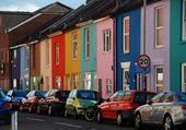 Rue de Portsmouth, Hampshire, Angleterre