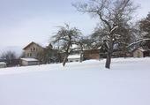 Neige à Chesalles-sur-Oron