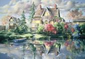 cottage au bord du lac