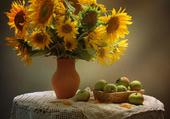 pommes et tournesols