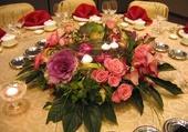 Belle table fleurie